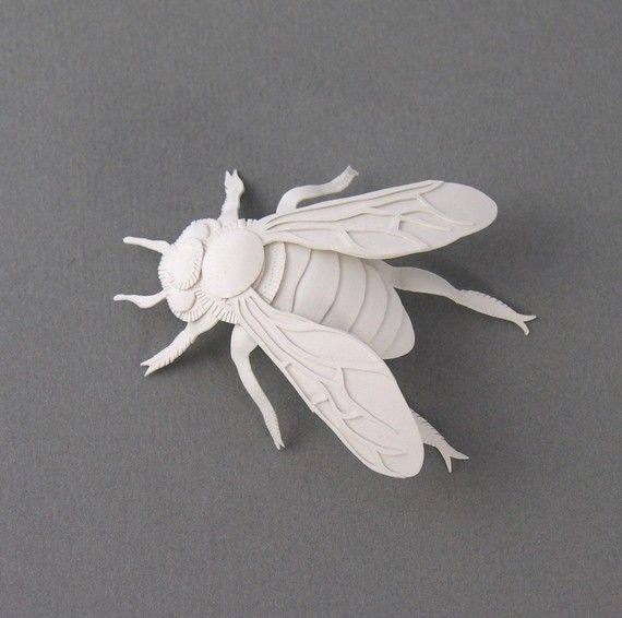 Bee Miniature Paper Sculpture