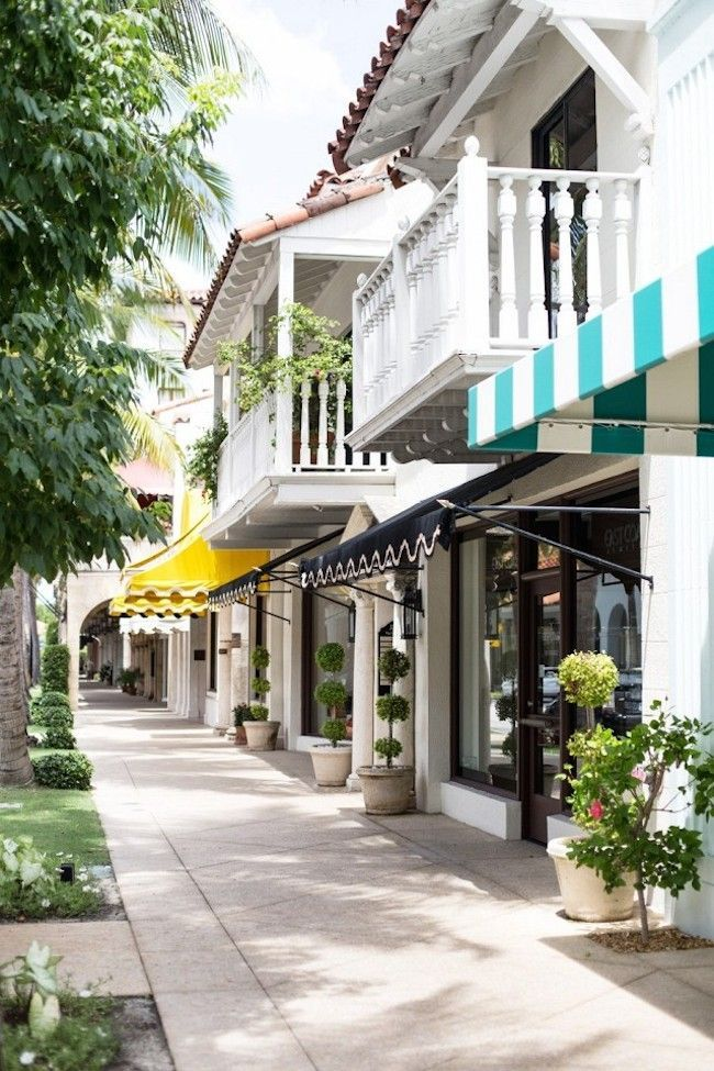 A Locals-Only Guide to Palm Beach an those very colour awnings