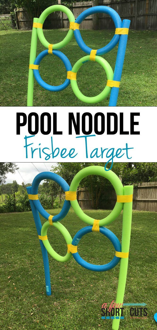 Pool Noodle Frisbee Target Pool Noodles Noodle And Summer