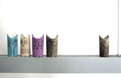 Toilette Paper Roll Owls