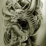 Oriental Dragon Tattoo Style (22)