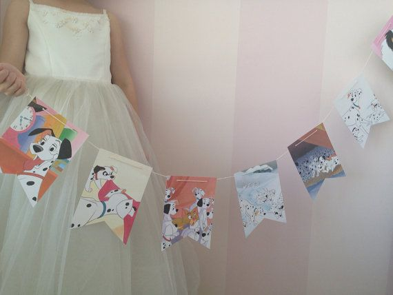 101 dalmations book party decoration banner by lowercaselettersco, $15.00