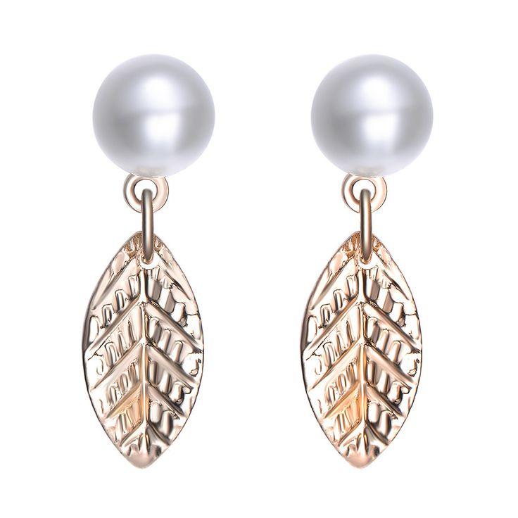 Cosmic Love: Pearl & Gold Stud Earrings By Amrita Sen