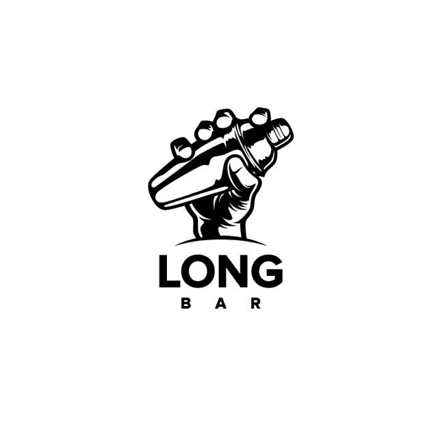 "Logo for ""LONG BAR"" #logo #art #hand #shaker #bar #longbar #cocktail #original #graphicmaniac"