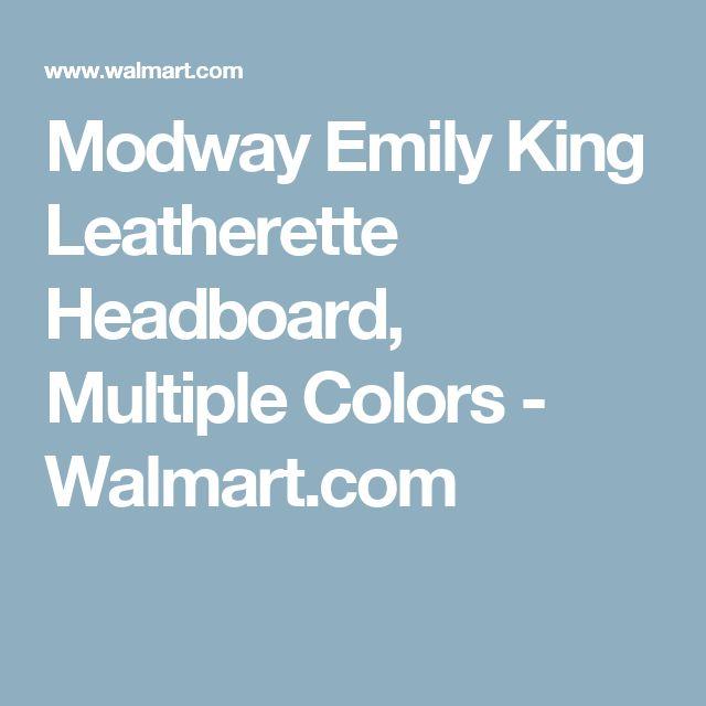 Modway Emily King Leatherette Headboard, Multiple Colors - Walmart.com