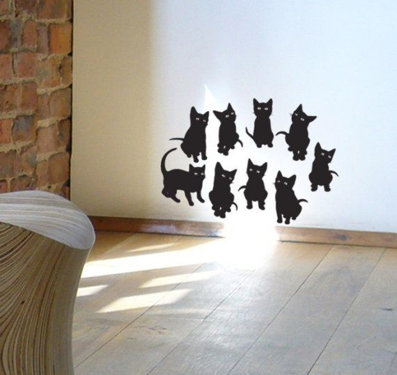 How damn sweet! Kitty decals!