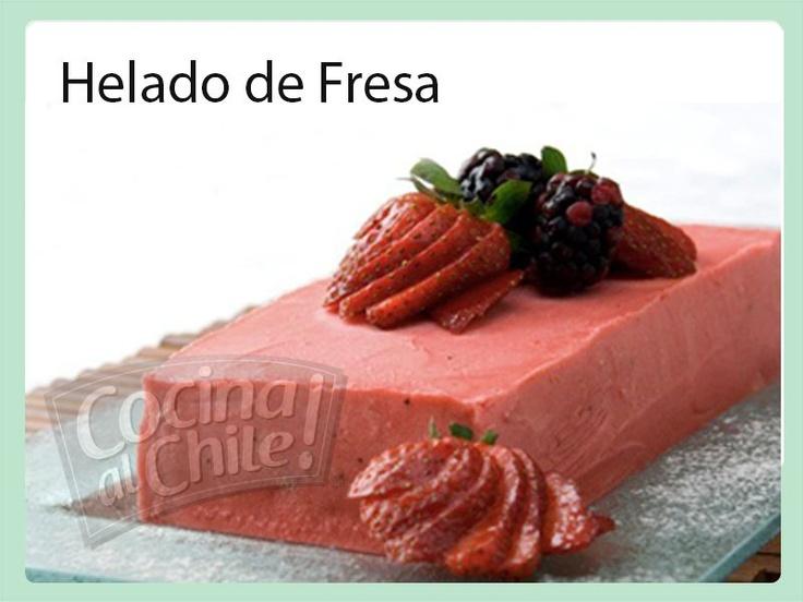 Delicioso Helado de Fresa casero 100% natural que le encantará a todos.