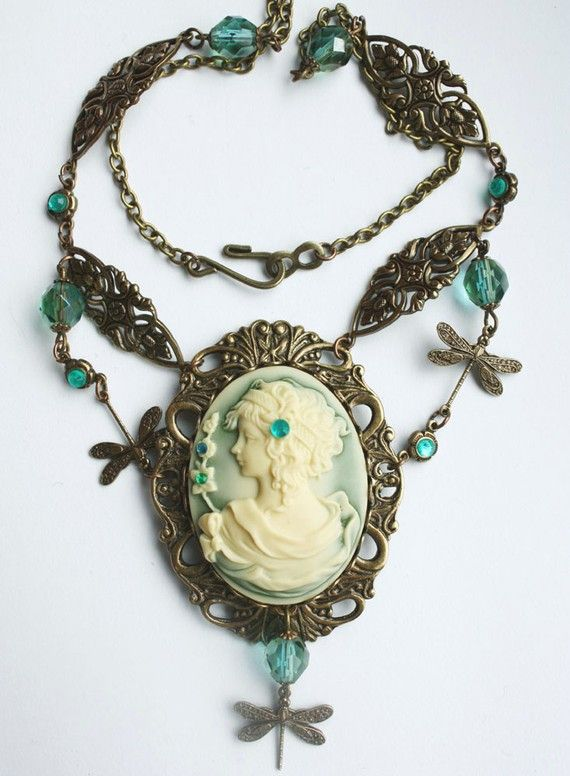 Steampunk jewelry Gothic necklace filigree fantasy by pinkabsinthe, $40.00