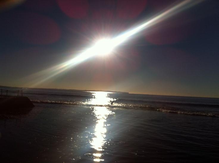 Morning sun in cronulla sydney