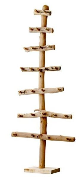 xmas tree made from driftwood with little hooks - http://soukshop.com/index.php?main_page=product_info=34_id=506