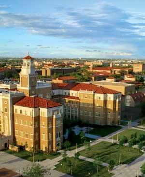texas tech university campus - wreck 'em tech!