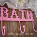 yummy PINK BATH Iron Hook. Towel Wall Hook. Shabby Cottage Chic. Romantic Prairie Victorian Decor. PICK Your Color.. $21.00, via Etsy.