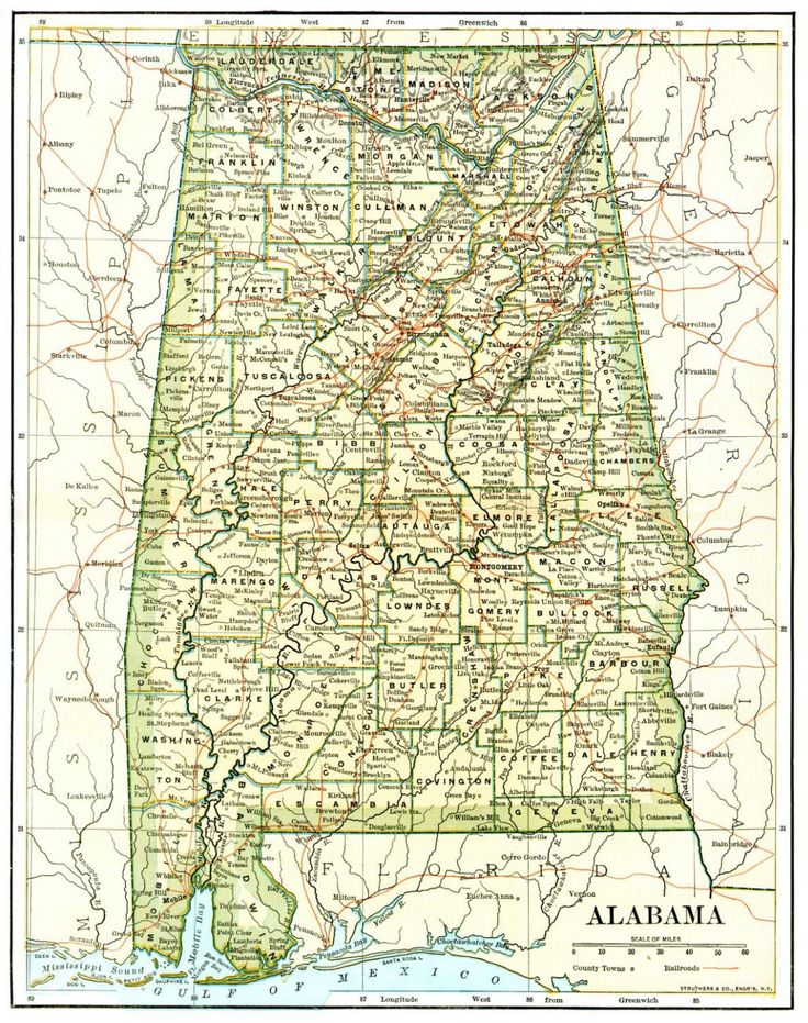 Best Alabama The Beautiful Maps Images On Pinterest Sweet - Map of alabama and florida