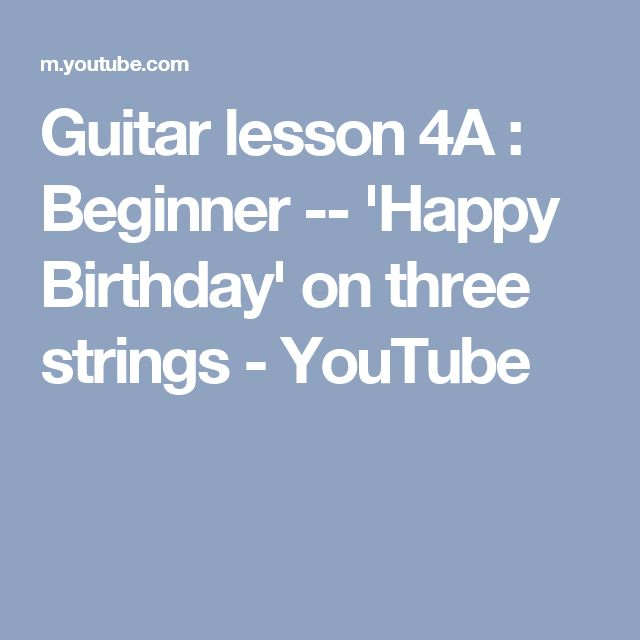 Chords for happy birthday guitar