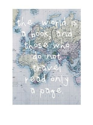 Really Nice Things Stampa su Tela World Is a BooK