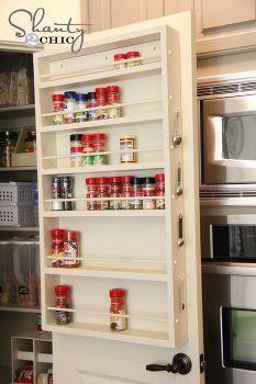 diy pantry deur kruidenrek, schoonmaken tips, kast, opslag ideeën, Pantry Deur Spice Rack