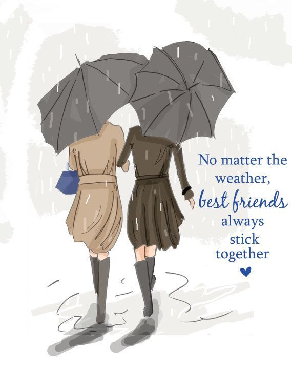 No matter the weather, best friends always stick together..