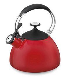 CTK-EOS12R - Cuisinart Cache™ 2 Qt. Enamel Teakettle - Tea Kettles - Products - Cuisinart.com