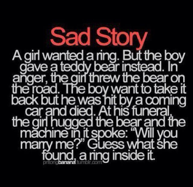 How sad