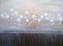 Naomi Crowther  www.naomicrowther.com  SOLD Chalk Poppies At Dawn