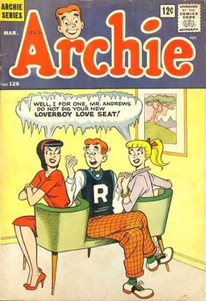 Archie comic books...Mom always bought these for me for the long road trips in the car