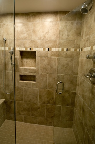 Tiled Walk In Shower Master Bath Ideas Pinterest