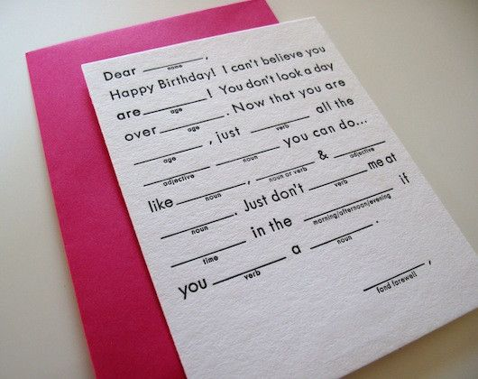 It is a graphic of Satisfactory Happy Birthday Mad Libs Printable