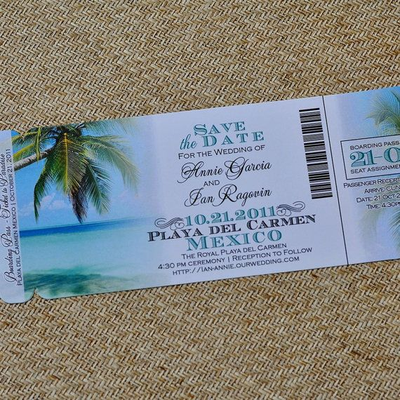 Boarding Pass Invitation or Save the Date Design Fee ...
