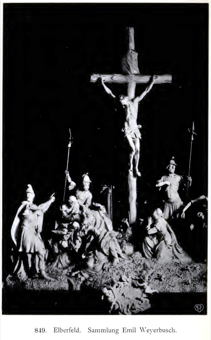 Große Kreuzigungsgruppe aus Sammlung Emil Weyerbusch Elberfeld, 1902 in Düsseldorf gezeigt.