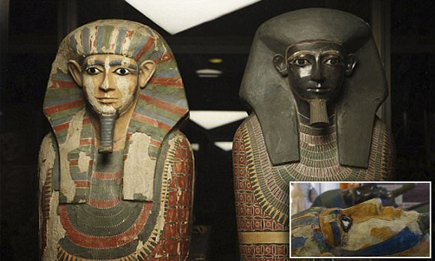DNA reveals the 'Two Brothers' mummies are half-brothers   Daily Mail Online