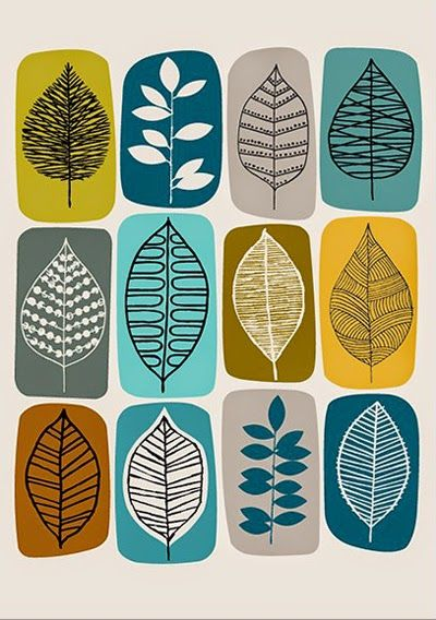 Blätter-Muster Mehr