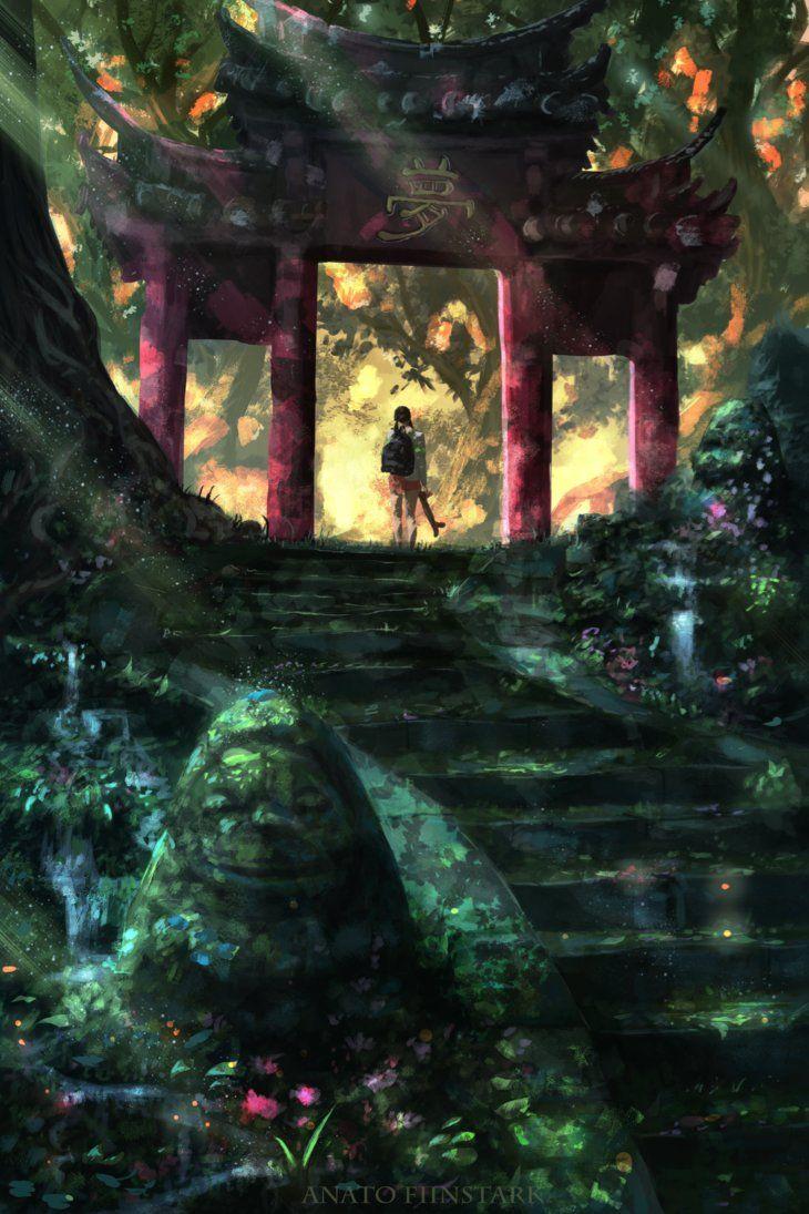 Spirited Away Another Gate Ghibli By Anatofinnstark Studio Ghibli Background Spirit Animal Art Hayao Miyazaki Art
