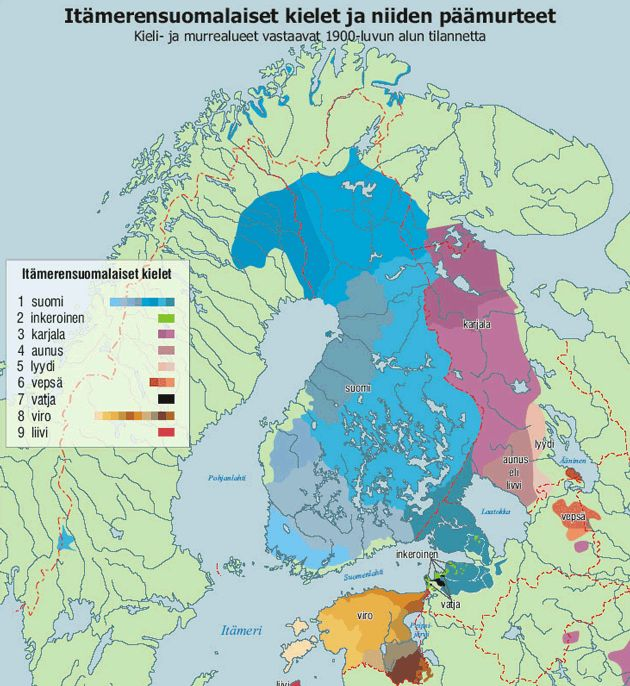 Baltic-Finnish languages - Itämerensuomalaiset kielet.