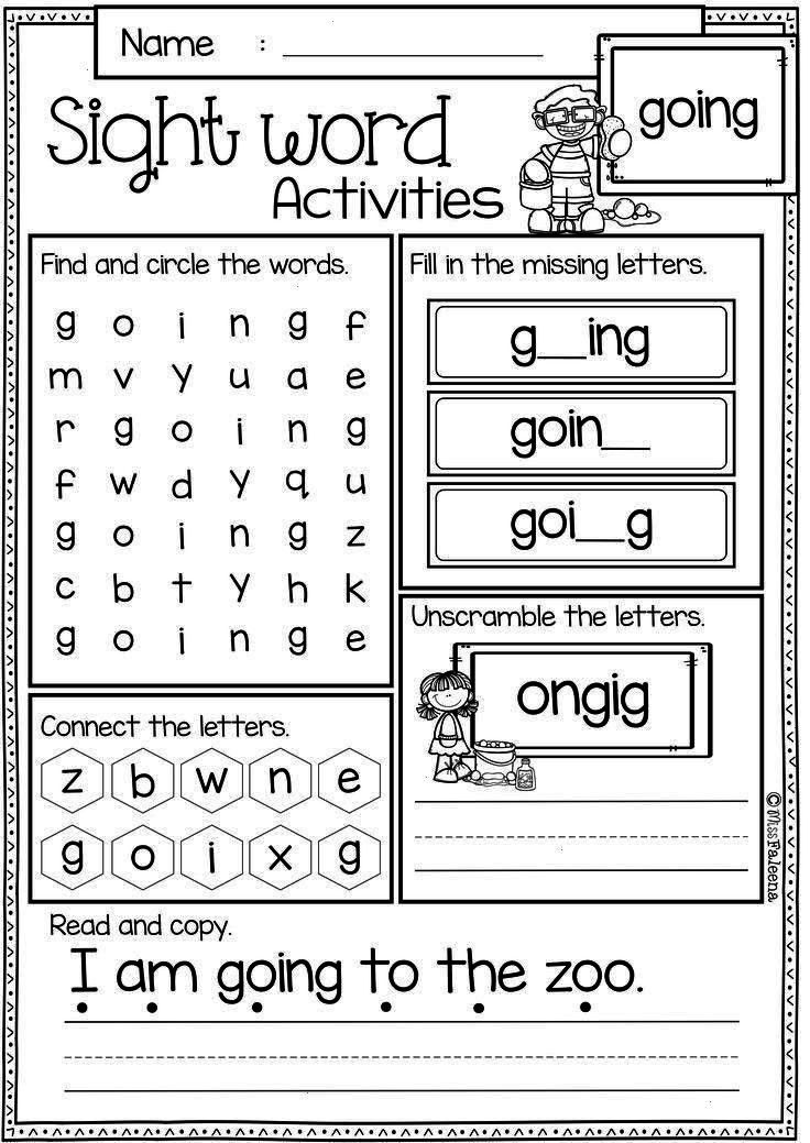 Kindergartenlessonfree Kindergarten Readingword Activities