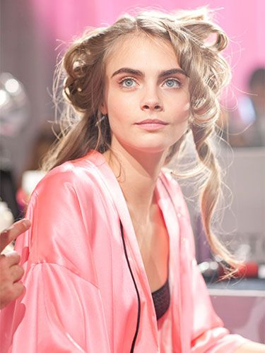 Cara Delevingne backstage at the Victoria's Secret Fashion Show. favorite person ever.