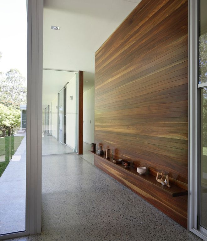 28 best images about wood wall cladding on pinterest for Pictures for hallway walls
