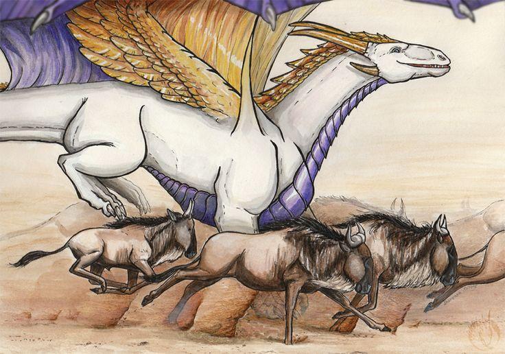 The Great Migration and dragon by MargotShareaza.deviantart.com on @DeviantArt