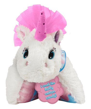 $19.99 marked down from $24.99! Cotton Candy-Scented Unicorn Pillow Pet #unicorn #cottoncandy #scent #zulily! #zulilyfinds