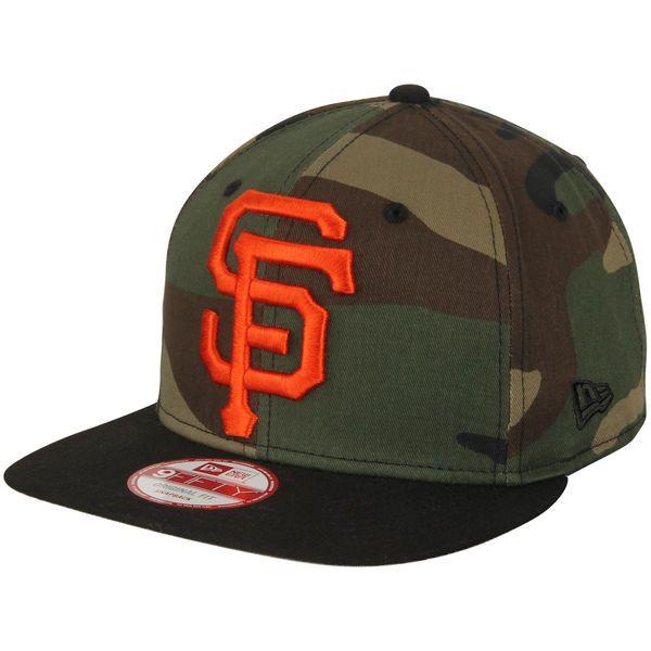 San Francisco Giants New Era Woodland Logo Grand Redux Original Fit 9FIFTY Adjustable Hat - Camo/Black - $27.99