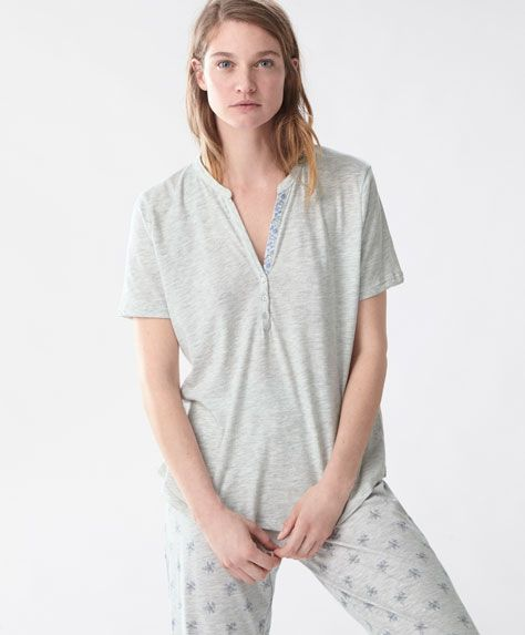 Top Half - Pyjamas - SALE - Spring Summer 2017 trends in women fashion | Oysho