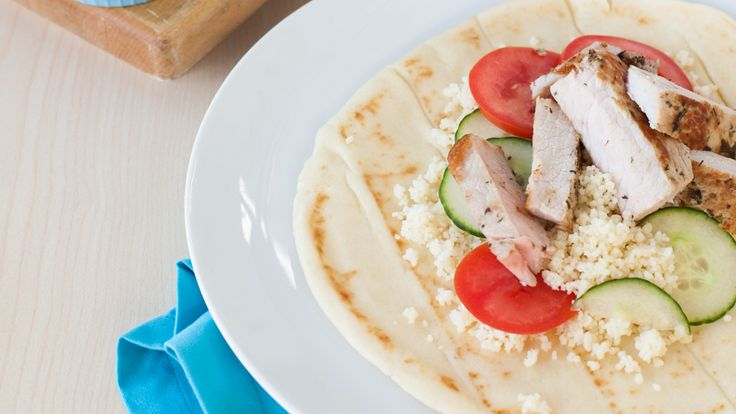 Greek Pork & Couscous Wraps