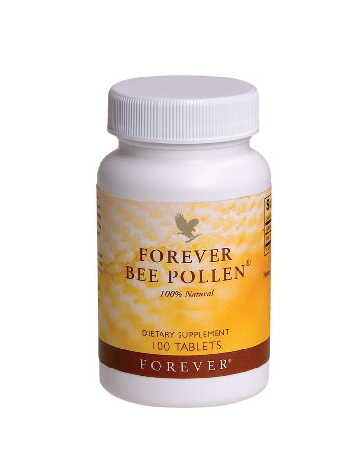 Forever Living - Bee Pollen. Boosts energy and stamina, and assists in maintaining a healthy circulatory, digestive, immune and nervous system. A great multi-vitamin and multi-mineral supplement that is easily absorbed. Ideal to take during the Summer months when the pollen count is high.