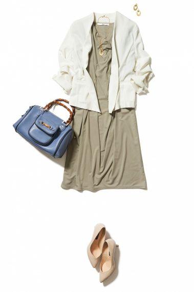 爽やかノーカラー白ジャケットならフォーマルもカジュアルも思いのまま! ― A-ファッションコーディネート通販|ビストロ フラワーズ トウキョウ