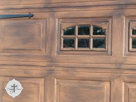 Prodigal Pieces: DIY: Faux Wood Garage Door Tutorial