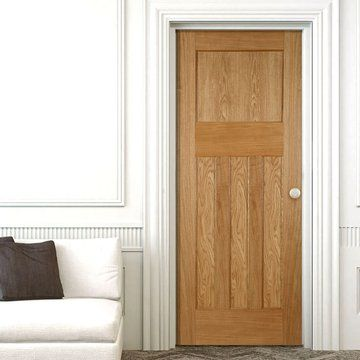 Period Oak 1930's 4 Panel Door | Mendes Panel Doors