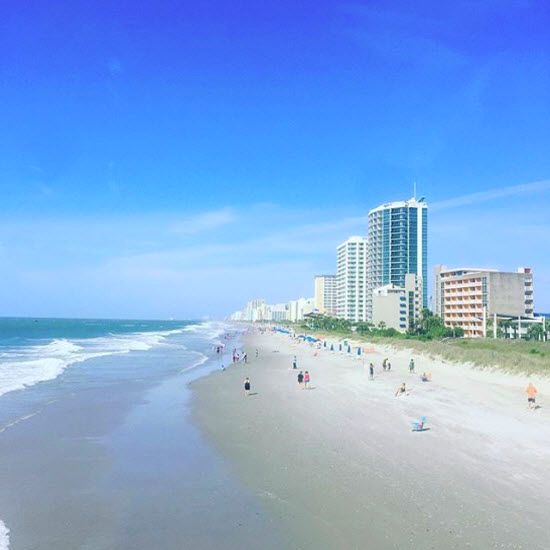 Myrtle Beach, South Carolina | You can't run out of things to do, places to dine, and places to stay, and we throw in the genuine Southern Hospitality for free! | Photo via Instagram by marlainagymaholicloyd | Click on the pin to see hotel deals and info about the Myrtle Beach area.