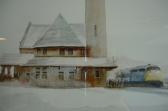 Thank goodness 'those' in power in Brantford did not rip this historical landmark down to the ground. Painting of the historic Brantford, ON Train Station by kang_a_ji, via Flickr