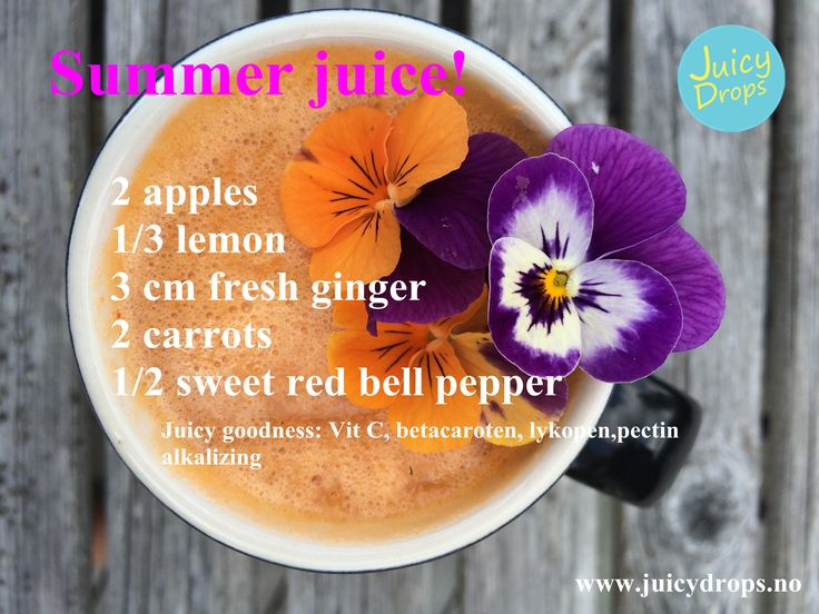 Healthy, vitamin C rich juice for the summer.