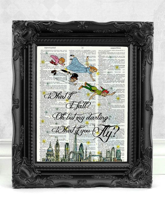 Best Friend Gift Peter Pan and Wendy Peter by NeverGrowUpDesign