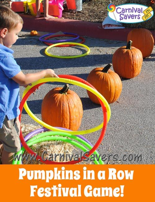 Pumpkins in a Row Fall Festival Game